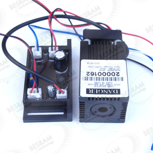 Wholesale Green Laser Power Supply - Industrial 120mW Blue 445nm 450nm Laser Diode Module w TTL+12V Power Supply