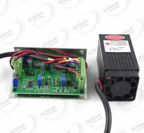 Wholesale Show Laser 1w Green - 1000mw 1w 450nm Blue Laser Diode Module TTL Lighting Show 12vdc