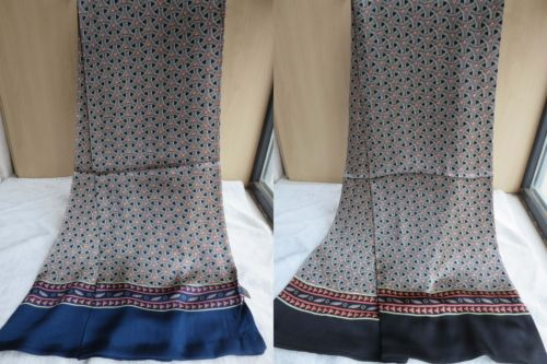 Men's Fashion 100% Pure Mulberry silk Double sided silk long scarf