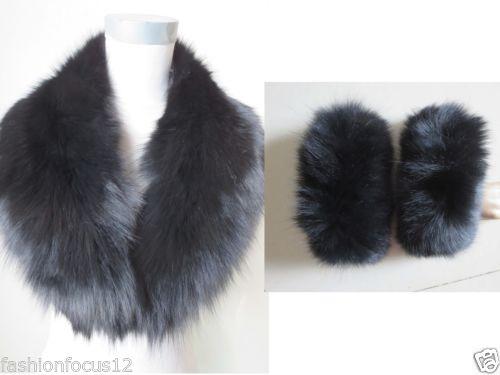 $enCountryForm.capitalKeyWord Canada - Wholesale retail Latest style warm real fox fur collar and cuffs  scarf black