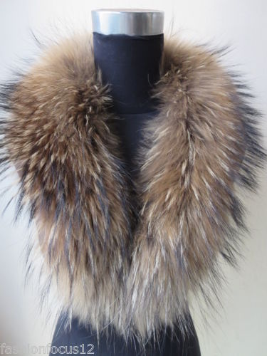 $enCountryForm.capitalKeyWord Australia - Wholesale retail fashion warm real handmade Whole hide Raccoon fur collar scarf  natural brown