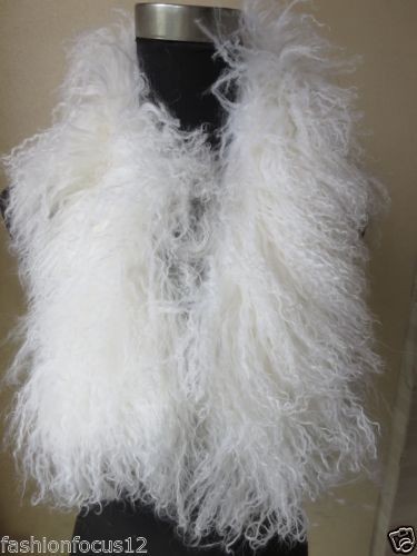 Wholesale Women s fashion Whole lamb fur scarf collar with clip white