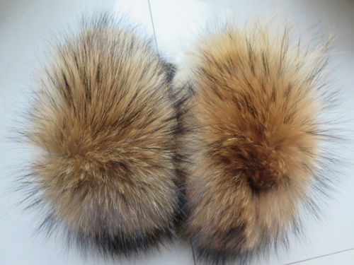 Wonderful  women's real best Raccoon fur handmade sleeves soft cuffs brown
