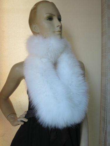 Women's Winter latest style Elegant Fashion 100% fox fur knitted long neckerchief /Lady's scarf white Warm Soft