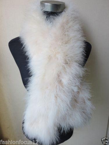 $enCountryForm.capitalKeyWord Canada - Winter warm Women's fashion real ostrich feather fur scarf white