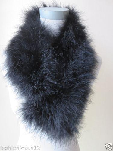 $enCountryForm.capitalKeyWord Canada - Winter warm Fashion Women's Real ostrich feather fur scarf neckerchief black