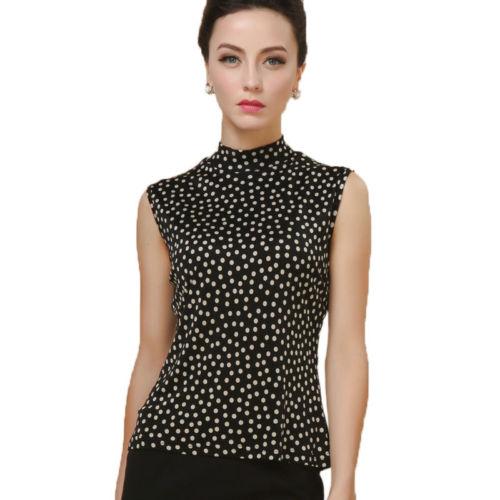 80f4156c396a2 100% Pure Silk Knit Print Women S Mock Turtleneck Sleeveless Top Size L XL  XXL Deal With It T Shirt Ts Shirts From Kevinqian789