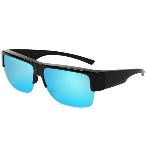 подходят солнцезащитные очки оптовых-Fit Over Sunglasses Покрытие для чтения Очки для близорукости Поляризационные линзы Светлые стильные полурамки