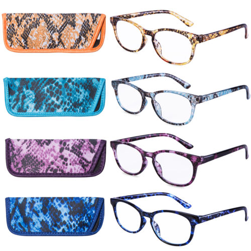 Reading Glasses Stylish Fashion colorful women Presbyopic Readers magnifying glass lady 10 sizes 4 Paris  Pack