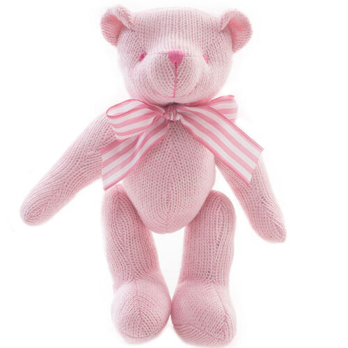 Mini Knitted Teddy Bear Doll Plush Stuffed Toy Movable Joint For Kids Women Gift