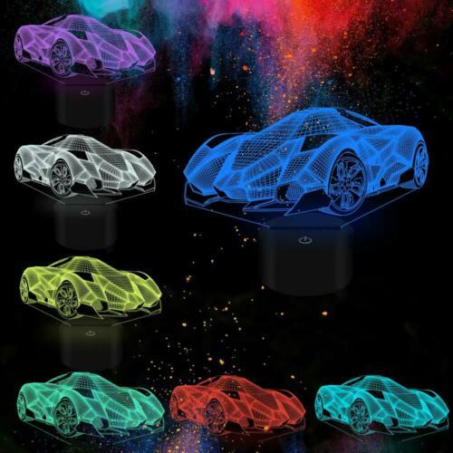 Pour De 3d Sommeil Lamborghini Chambre VeilleuseLampe Enfants Voiture Chevet Sport WrBxedoC