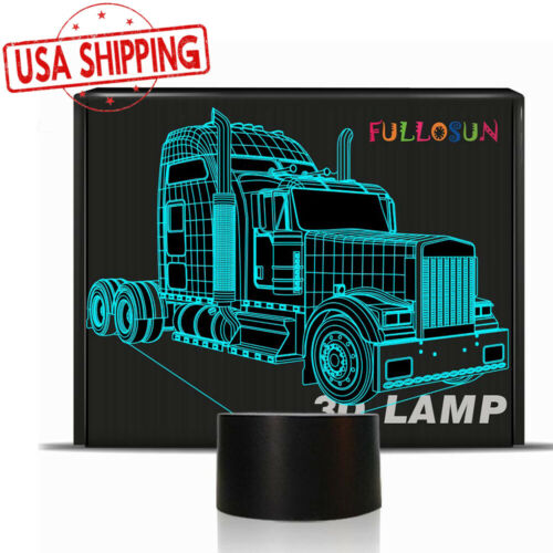 79d8f602 2019 Big Truck 3D Night Light Change Bedside Lamp Birthday Gifts Cars  Trucks From Lightcute, $25.69 | DHgate.Com