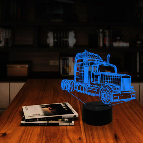 ea9e376d 2019 Big Truck 3D Night Light Change Bedside Lamp Birthday Gifts ...