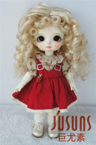 $enCountryForm.capitalKeyWord Australia - Jusuns 5-6inch Curly Soft Cabbage BJD Doll Wigs 1 8 Lati Yellow Doll Accessories Blond JD455
