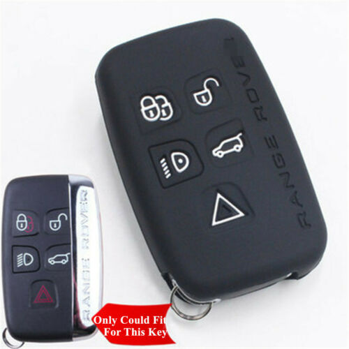 Fit For Terra Range Rover Sport Evoque Silicone Car Key Shell Remote Cover 5 Botão preto de Fornecedores de porta-chaves land rover