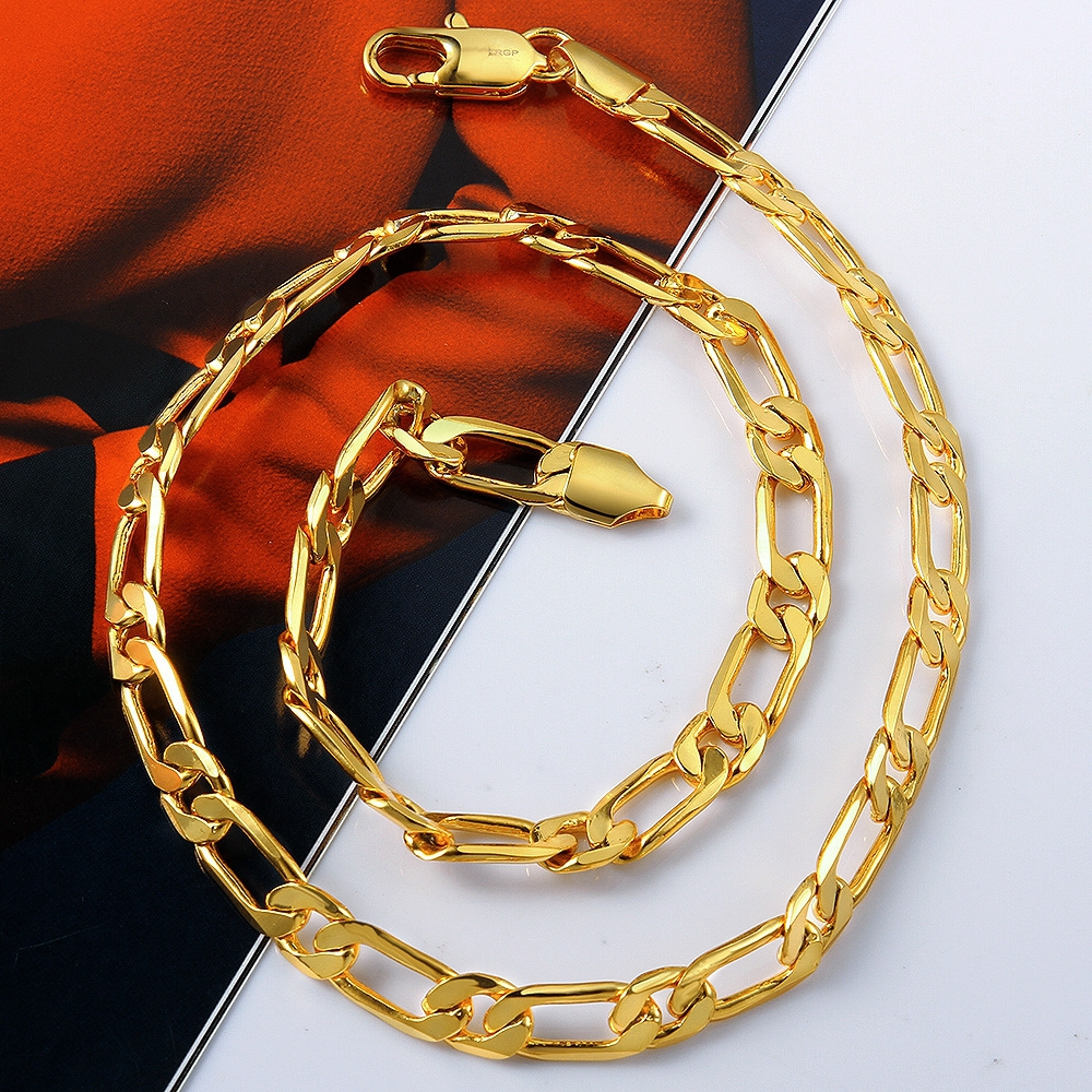 Men\'s Cool Link Chains Two Colors 8mm necklaces 18K Gold Rose ...
