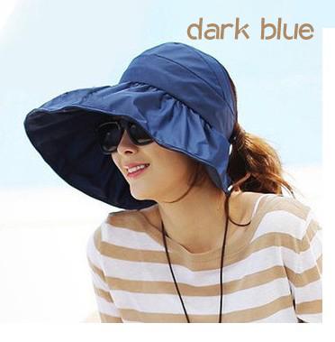 eed8452920882 2015 New Summer Sun Hat Women Bonnet Foldable Waterproof Wide Large Brim Caps  Beach Hats Female Sunscreen Visor Sunshading Scrub Hats Mens Hat From ...