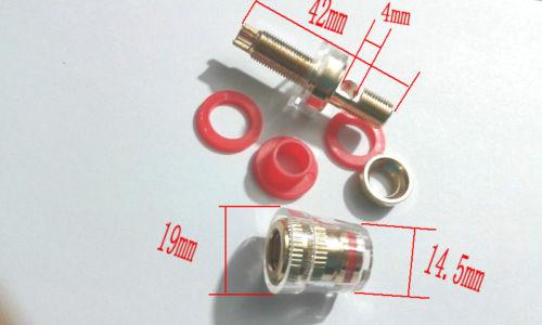 2PCS copper Binding Post for Amplifier Speaker for 4mm Banana plug