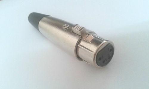 Wholesale Xlr Pin Connector - 2PCS XLR 4-Pin Female Power Connector Socket