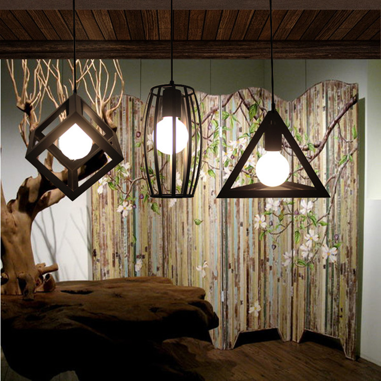 Cafe Bar Black Industrial Light Kitchen Antique Wrought Iron Pendant Light  Dining Room Fashion Shop Lamps RH Loft Retro Bar Lamp Pendant Lamp Shade ...