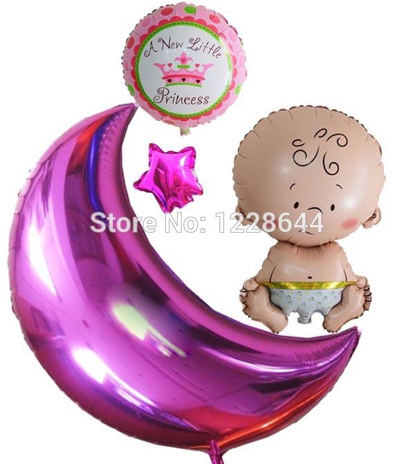 moon_ 36inch moon foil balloon -baby girl