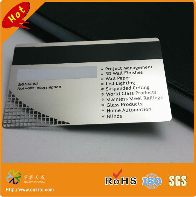 high co magnetic strip metal card
