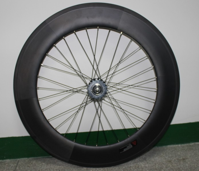 china factory directly sell track bicycle fixed gear clincher wheelsets 3-spoke&88mm wheel