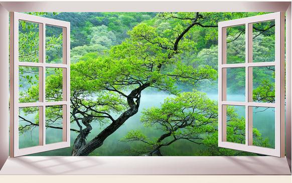 Customize Wallpaper Papel De Parede Three Dimensional Space Expansion  Indoor Natural Scenery 3d Wallpaper Free Shipping5245 Wallpaperss  Wallpapert