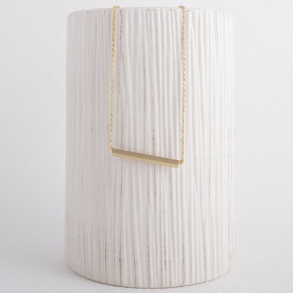 2014-Fashion-18K-Gold-Square-Bar-Necklace-Free-Shipping (1)
