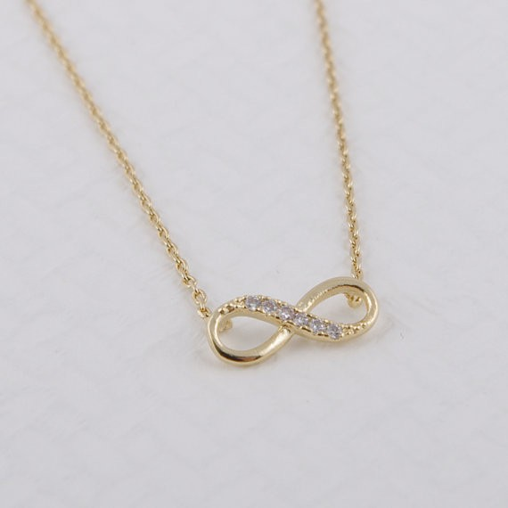 2014-Fashion-18k-Tiny-Infinity-Necklace-in-Gold-Free-Shipping