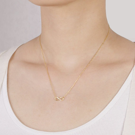 2014-Fashion-18k-Tiny-Infinity-Necklace-in-Gold-Free-Shipping (3)
