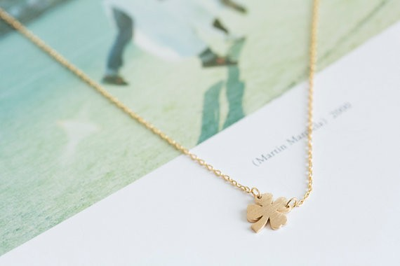 2014-Fashion-18k-Gold-four-leaf-clove-necklace-for-girlfriend-Free-Shipping