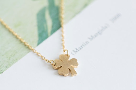 2014-Fashion-18k-Gold-four-leaf-clove-necklace-for-girlfriend-Free-Shipping (4)