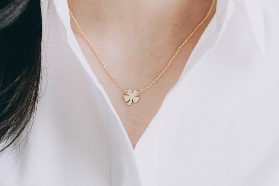 2014-Fashion-18k-Gold-four-leaf-clove-necklace-for-girlfriend-Free-Shipping (3)