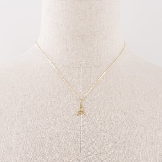 2014-Fashion-18k-Eiffel-Tower-Necklace-in-Gold-Free-Shipping (3)