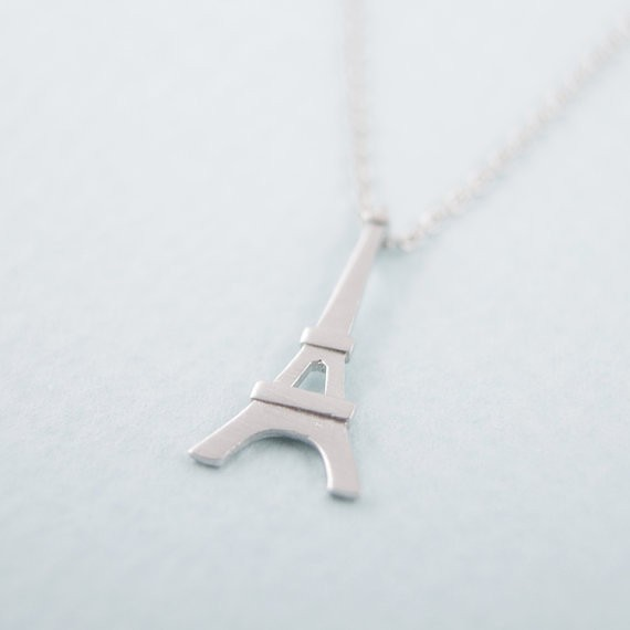 2014-Fashion-18k-Eiffel-Tower-Necklace-in-Silver-Free-Shipping (1)