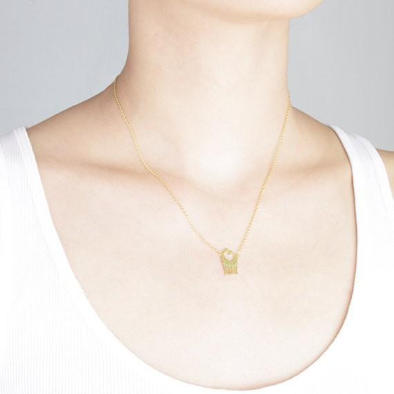 2014-Fashion-18K-Gold-Silver-Loving-Giraffes-Necklace-Free-Shipping (3)