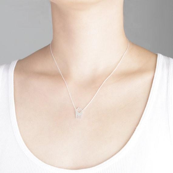 2014-Fashion-18K-Gold-Silver-Loving-Giraffes-Necklace-Free-Shipping (4)