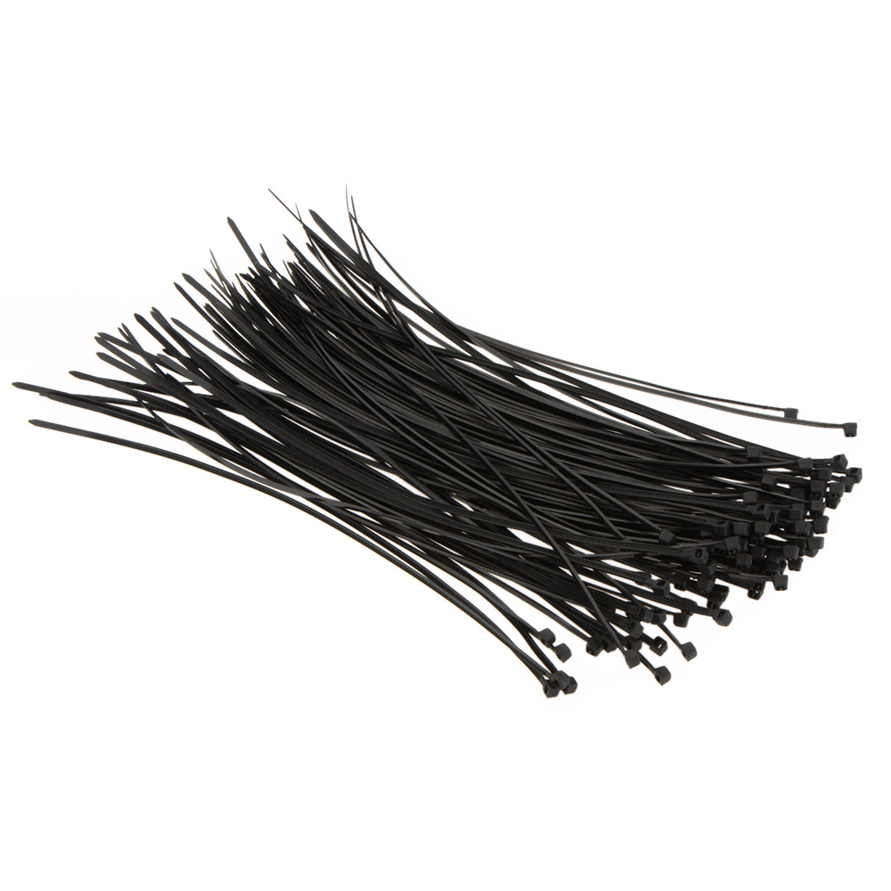 200mm Black Locking Plastic Nylon Cable Ties Zip Wire Wrap Fasten ...