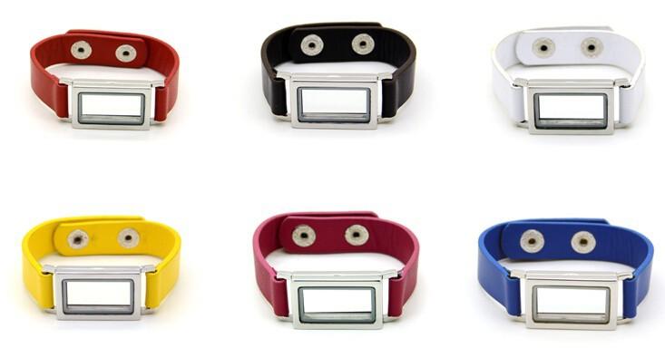 316L stainless steel floating lockets bracelets 2
