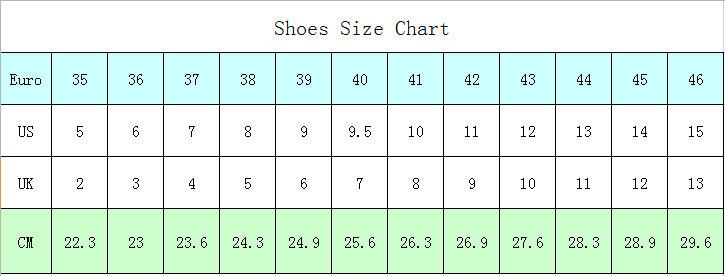 HJR Size Chart