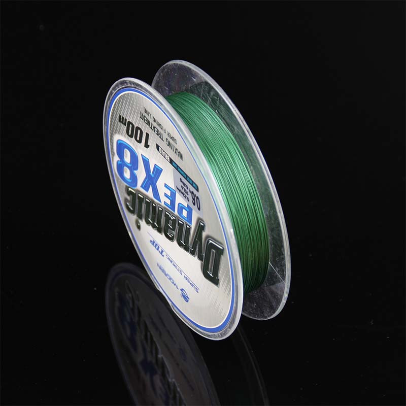 Super Strong 8 strand pe braided fishing line 100m moss green #0.4-#10 braided fishing line 15Lb 30LB braided line for fishing (3)