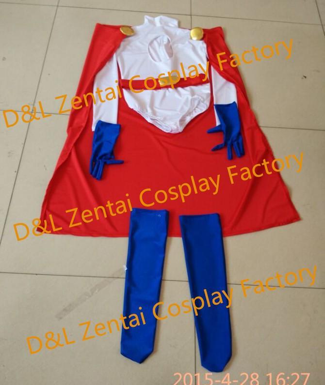 Free Shipping Halloween Costume,Zentai Cosplay Costume,Power Girl Costume,White Lycra Spandex Catsuit, Superhero Suits For Women (2)