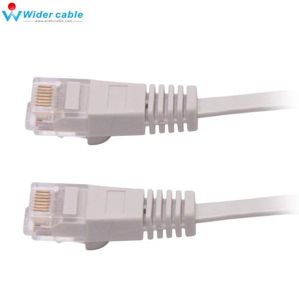 Snagless Grey Flat CAT6 Cable 4