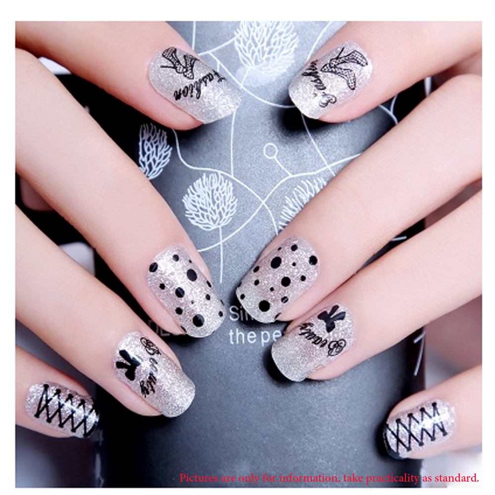 30 Sheets Fashion Diy Design Cute Strip Black And White Different ...