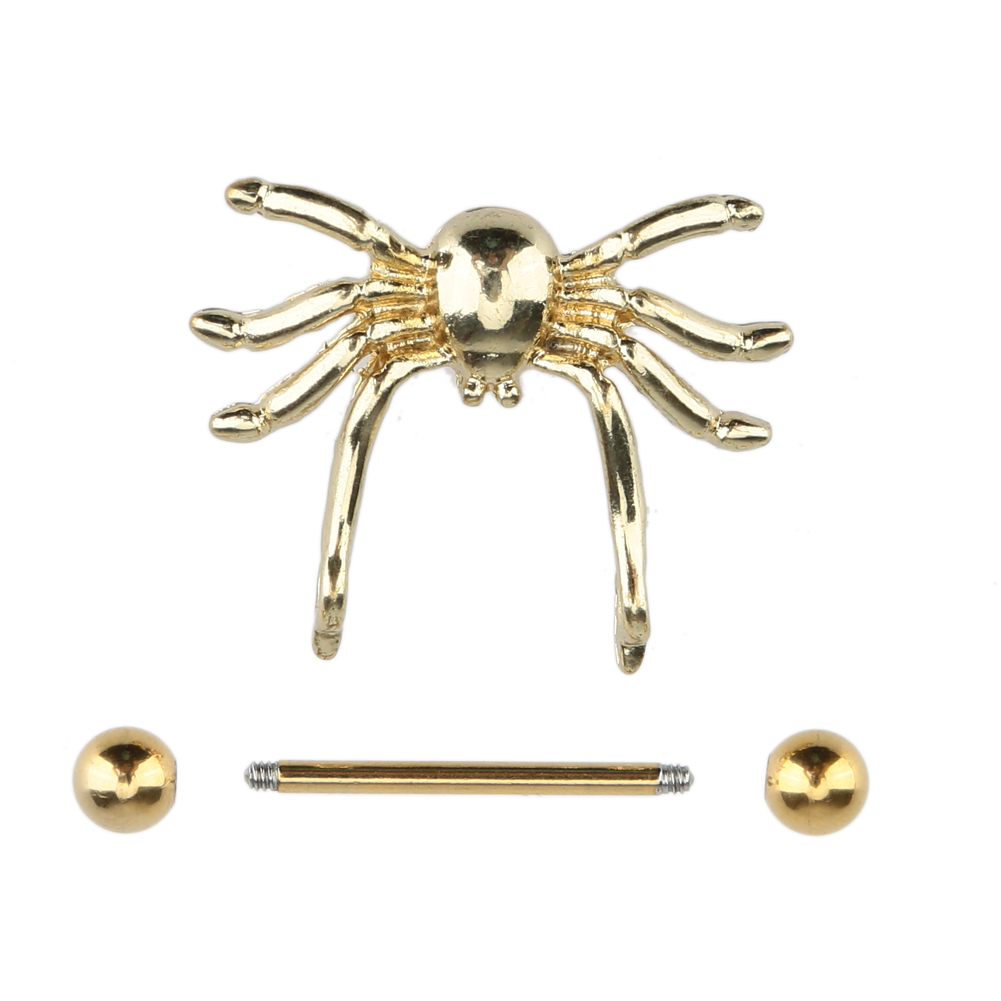 2017 New Arrival Fashion Gold Spider Style Body Jewelry Nipple