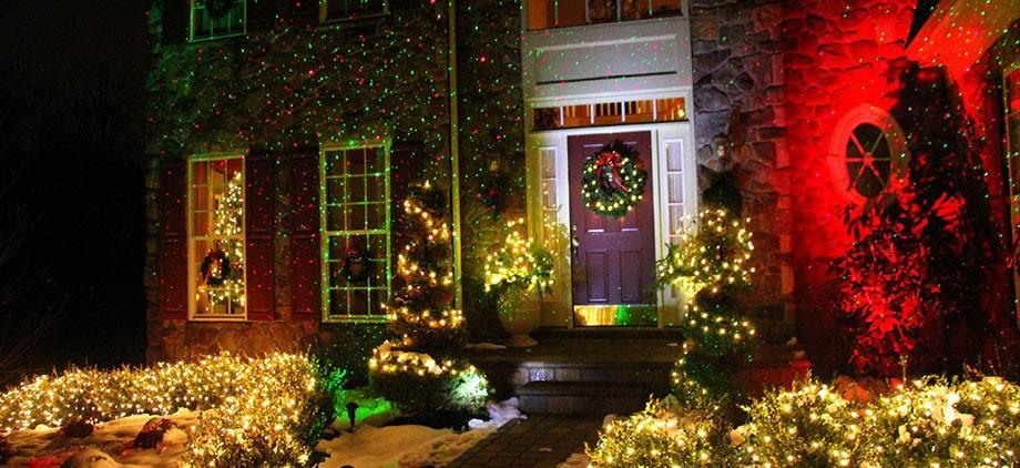Ip44 Waterproof Outdoor Christmas Lights Elf Laser Projector Red Green Moving Fireworm Effect New Year Christmas Light Projector Show Laser Green