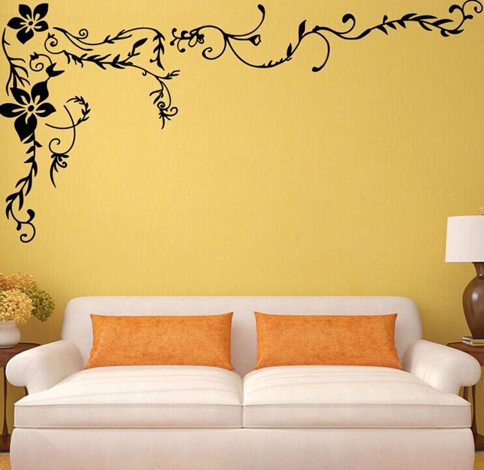 Flower Vine Wall Stickers Flowers Home Decor Large Paper Flowers ...