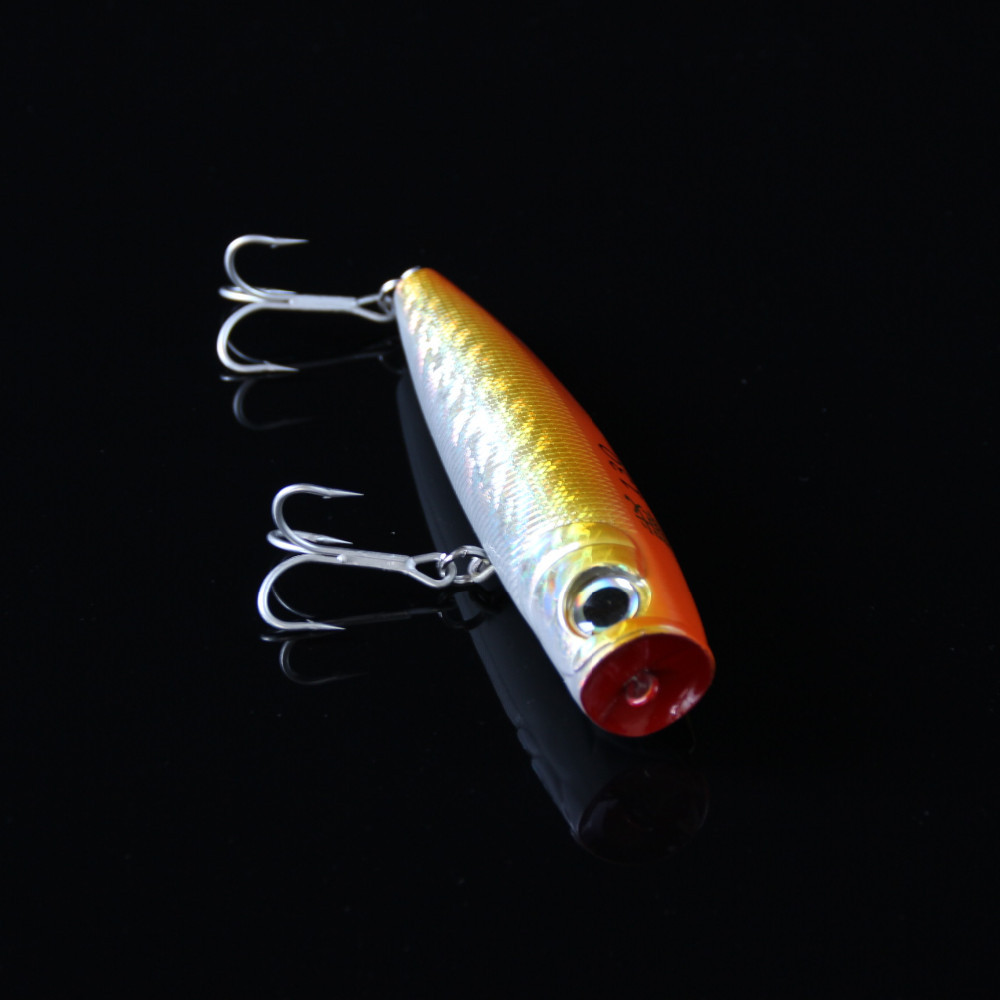 Best isca artificial Yellow poppers fishing lure topwater sea fishing popper wobbler big game carp bass lure 60g 130mm (17)