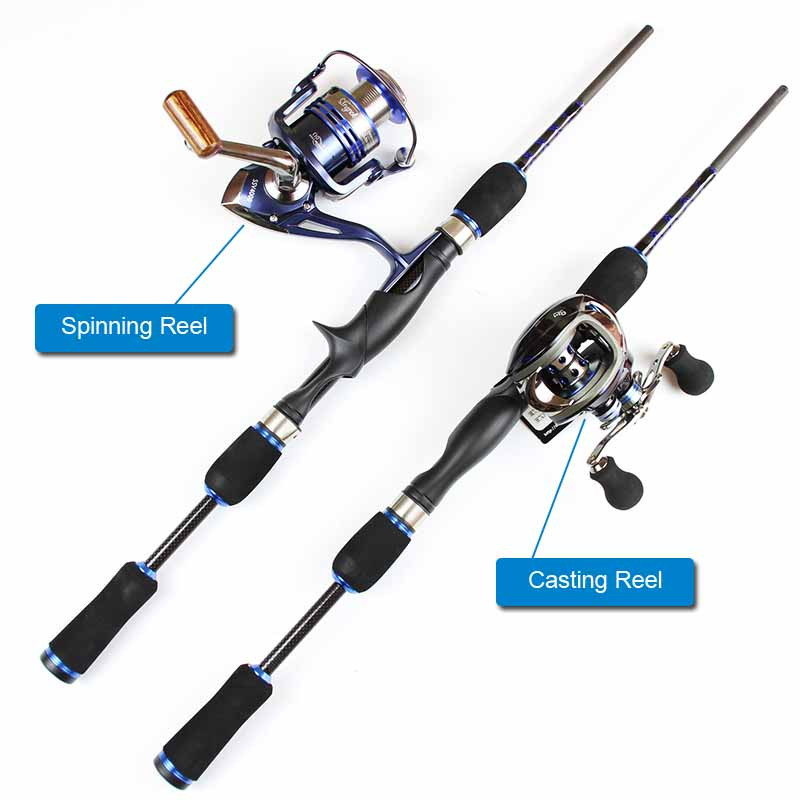 Casting Spinning Carbon Firber Fishing Rods 2.1m 1.8m 8 sections fishing rod travel pole one rod Two Use way fishing tackle (1)